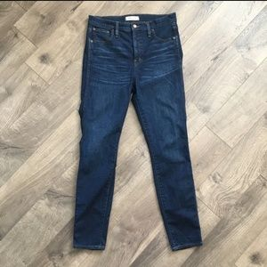 """Madewell 10"""" High Rise Skinny Jeans Size 29"""